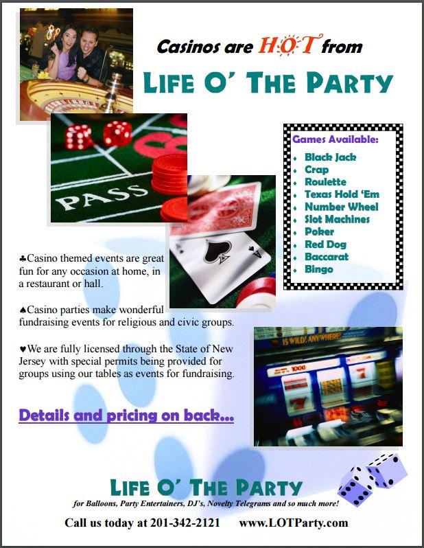 Casino Night Flyer 1