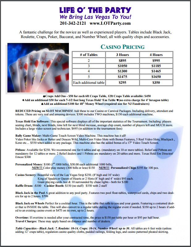 Casino Night Flyer 2
