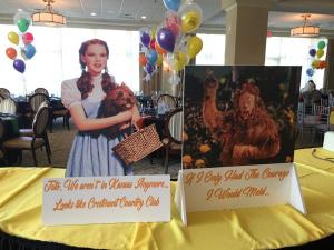 Wizard of Oz Party Props, Signs, Theme Centerpieces
