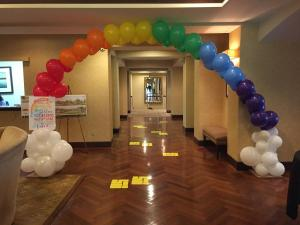 Rainbow Balloon Arch, Wizard of Oz Theme, Props