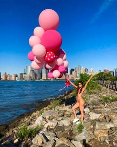 Jen Selter Swimsuit Pink Balloons