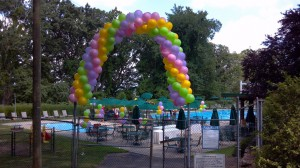 Packed Balloon Arch, Outdoor Balloon Decoration
