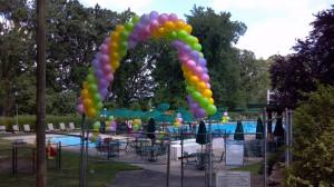 Packed Balloon Arch, Outdoor Balloon Decoration