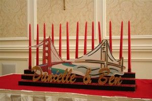 Bridges Theme Candle Lightning, Bat Mitzvah Candle Lighting Ideas, Red Candle Lightning