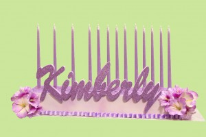 Kimberly Looks Pretty In Pink,  Bat Mitzvah Candle Lighting Ideas, Candle Lighting Centerpieces