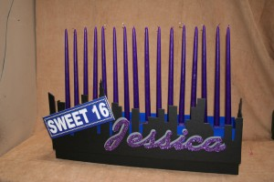 Sweet 16's Candle Pieces, Candle Lighting Centerpieces, Bat Mitzvah Candle Lighting Ideas