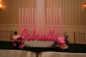 Bat Mitzvah Candle Lighting Ideas, Pink Candle Pieces