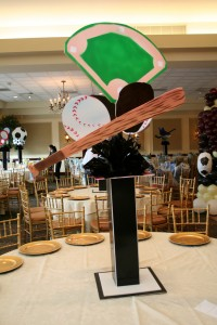 Sports Theme Centerpieces, Theme Centerpieces