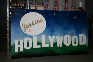 Hollywood Sign Board, Bar Mitzvah Sign Board