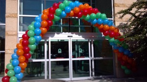 Packed Balloon Arch, Outdoor Balloon Decoration, Colorful Balloon Arch