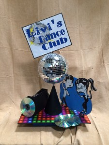 Theme Centerpieces, Theme Event Centerpieces, Dance Club Theme Centerpieces