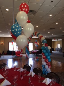Single Balloon Arches, Balloon Centerpieces