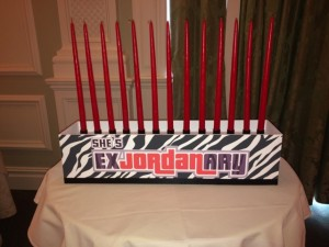 Bat Mitzvah Candle Lighting Ideas, Candle Lighting Centerpieces