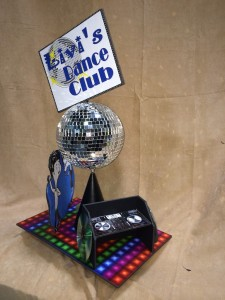 Theme Centerpieces, Dance Club Theme Centerpieces