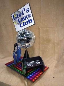Theme Centerpieces, Dance Club Theme Centerpieces