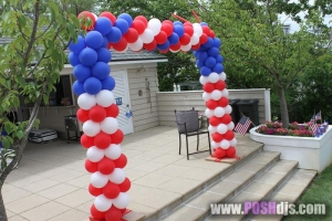 Door Frame Balloon Arch, Balloon Columns, Colorful Balloons, Outdoor Balloons
