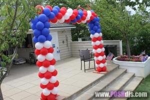 Door Frame Balloon Arch, Balloon Columns, Colorful Balloons, Outdoor Balloons