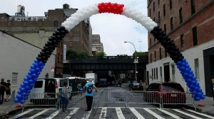 Balloon Arch, Packed Balloon Arch, Colorful Balloon Arch, Outdoor Balloons