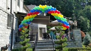 Packed Balloon Arch, Colorful Balloons