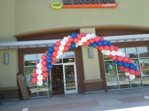 Petco Balloon Arch, Petco Balloon Decoration