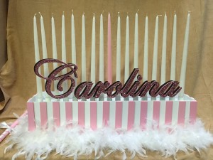 Sweet 16 Candle Lightning Pieces, Victoria's Secret, Candle Piece, Pink Candle Lightning, Bat Mitzvah Candle Lighting Ideas