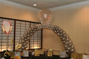 Packed Balloon Arch, Indoor Balloon Decoration