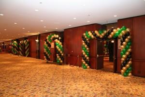 Packed Balloon Arches, Indoor Balloon Decoration, Door Balloon Arches