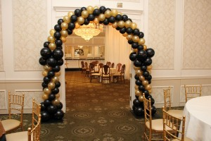 Packed Balloon Arch, Door Frame Balloons Arch, Black and Gold Balloons
