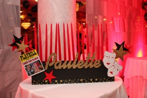 Sweet 16, Bar Mitzvah, Candle Lighting Centerpieces, Paulette Takes Broadway