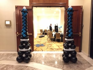 Balloon Columns, Balloon Sculpture, Entry Door Balloon Columns