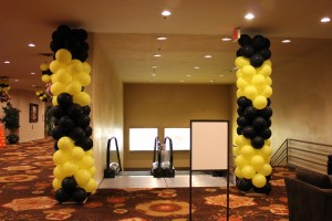 Balloon Columns, Balloon Decoration, Entry way Balloon Columns