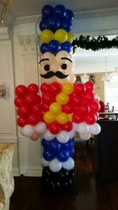 Balloon Sculpture, Soldier man Balloon Column
