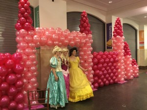 Balloon Sculpture, Balloon  Wall, Balloon Column Castle Design