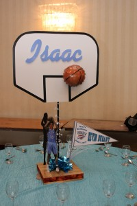 Sports Theme Centerpieces, Basket Ball Centerpieces