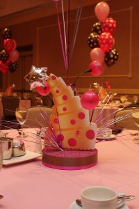 Balloon Centerpieces, Cake Centerpieces, Themed Centerpieces