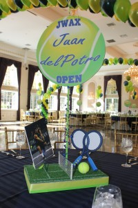 Sports Theme Centerpieces, Tennis Centerpieces