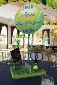 Sports Theme Centerpieces, Lime Balloon Centerpieces
