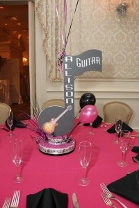 Music Notes Centerpieces, Allison Guitar Event Centerpieces