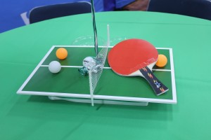 Table Tennis Theme Centerpieces, Event Decoration, Sports Theme Centerpieces