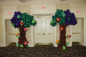 Balloon Columns, Balloon Sculpture, Balloon Tree Columns, Balloon Decoration