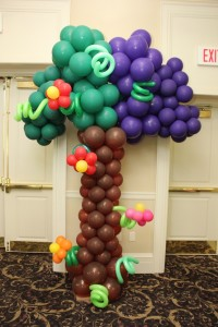 Balloon Column, Balloon Sculpture, Balloon Tree Column