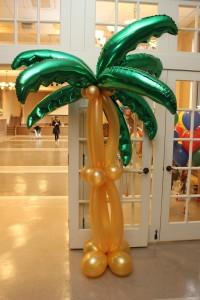 Balloon Column, Palm Tree Balloon Column, Balloon Decoration, Balloon Sculpture