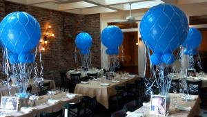 Blue Balloon Centerpieces