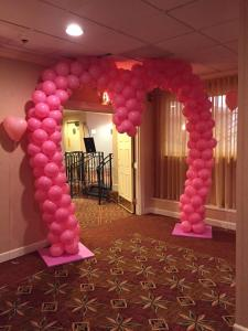 Pink Heart Balloon Arch
