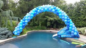 Blue Balloon Arch with Water