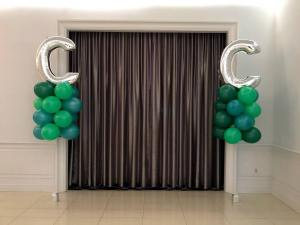 Green Balloons and Letter Balloons