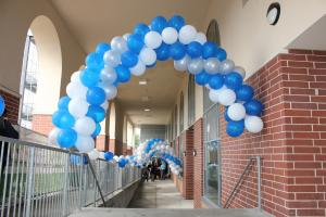 White and Blue Balloon Arches, Packed Arch