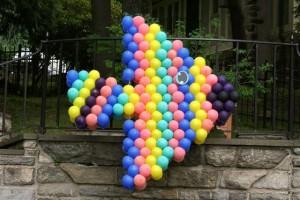 Fish Shape Balloon Art, Balloon Sculpture, Colorful Balloon Decoration