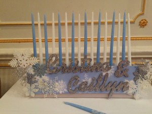 Special Sweet 16 Candle Piece, Candle Lighting Centerpieces