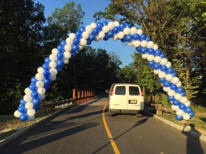 Balloon Arch, Blue & White Balloons, Packed Balloon Arch, Outdoor Balloons